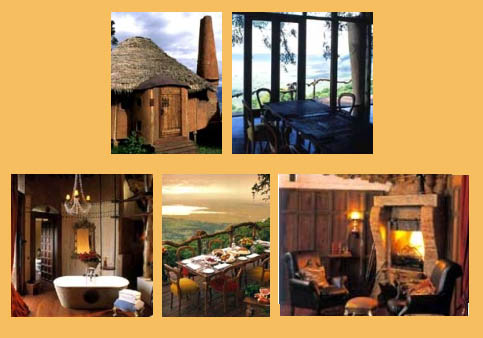 This are pictures of the crater lodge in Tanzania, at the Ngorongoro Crater a world heritage site