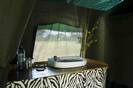 Your tent even has a sink