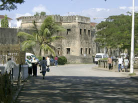 The old stone town of Zanzibar